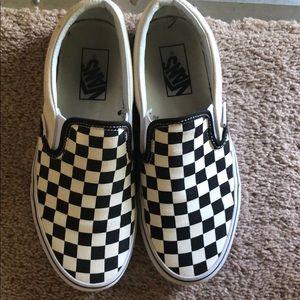 Size 7 checkered vans